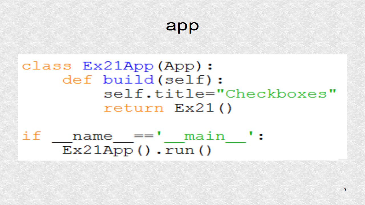 Mobile Programming in Python: 21  Checkboxes