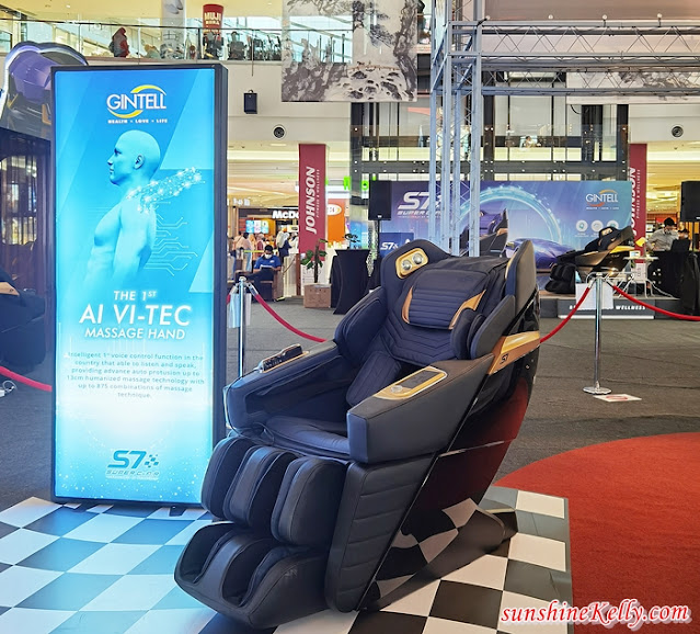 GINTELL S7 SuperChAiR Massage Chair, Gintell Malaysia, Voice Intelligence Technology, ViTec, Best Massage Chair, IOI City Mall, Lifestyle