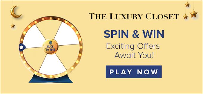 العب عجلة الحظ واربح قسائم شراء او هدايا عينيه مع The Luxury Closet