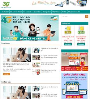 Giao diện Web bán Sim Card - Theme Blogspot Bán Sim - Blogspotdep.com
