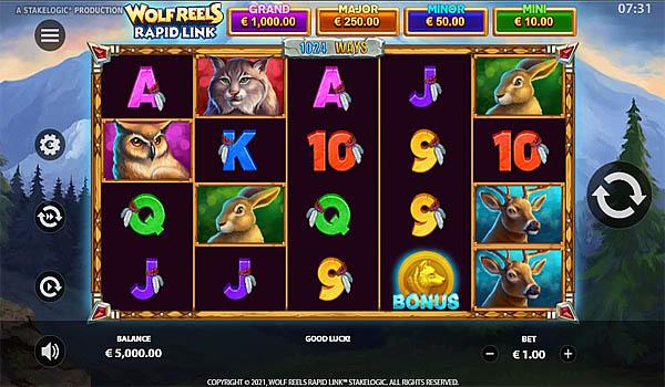 Main Gratis Slot Indonesia - Wolf Reels Rapid Link Stakelogic