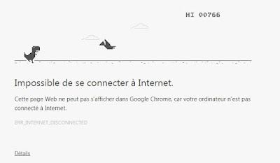 Dinosaure google chrome ptérodactyle