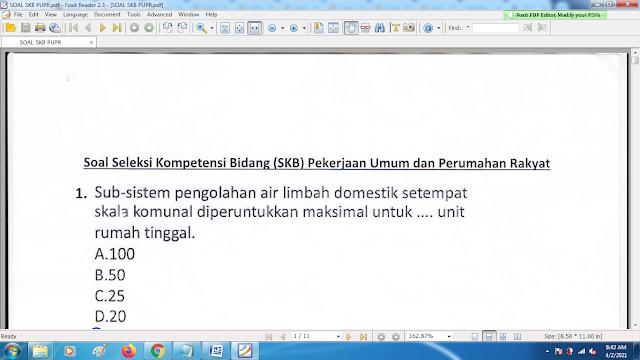 Download contoh soal pppk skb pupr dan kunci jawaban