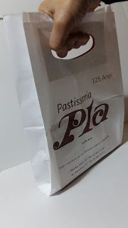 bolsa de papel asa troquelada