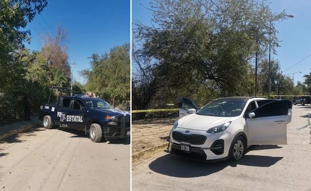 Guardias Nacionales , Estatales y Municipales son atacados por Sicarios en Badiraguato, Sinaloa hoy sábado