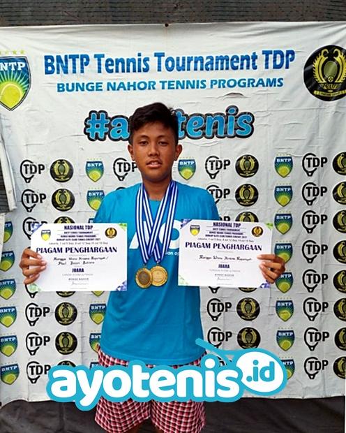 Rangga Borong Gelar Juara BNTP - Dunlop Elite Club Tennis Circuit Seri 1