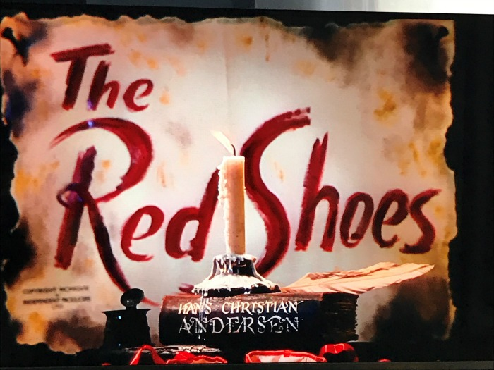 The Red Shoes intro screen on the DVD
