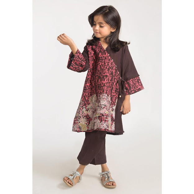 Kids Winter Collection 2 Piece Brown Dress outfit