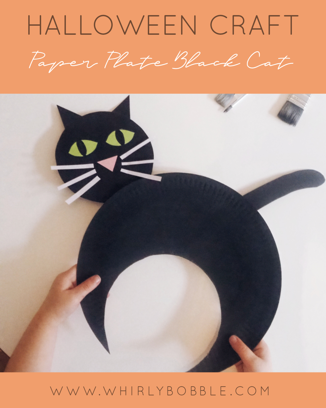 Halloween Craft - Paper Plate Black Cat