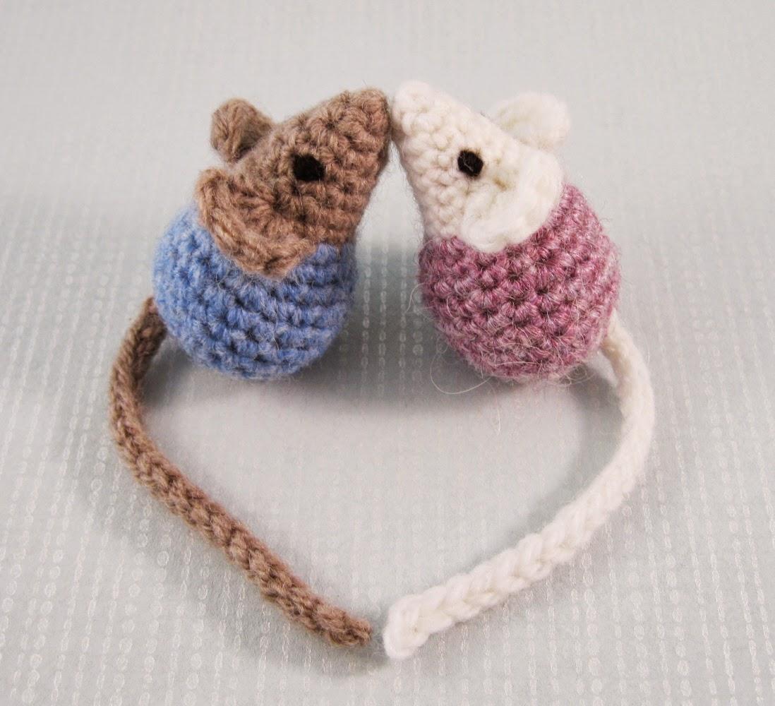 Lucyravenscar Crochet Creatures Little Kissing Mice