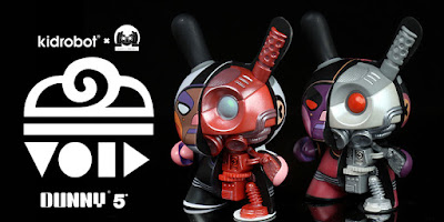 "VOID 5"" Search Create & Destroy Edition Mecha Half-Ray Android Dunny Vinyl Figures by DirtyRobot x Kidrobot"