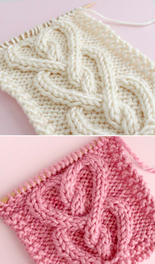 Knit a Cable Heart Stitch - Free Pattern & Tutorial