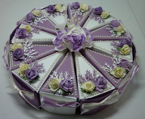Wedding Cake Favor Bo