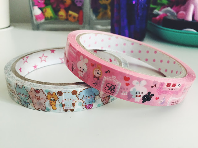 Kawaii Deco Tape Fluffy Fuwa Friends Bunnies in Paris