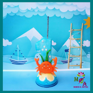 vela infantil fundo do mar