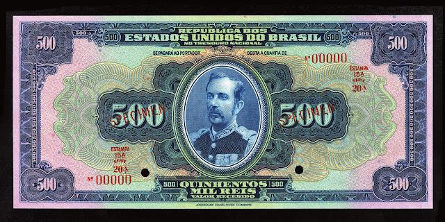 Brazil currency money Reis Cruzado Cruzeiro Real Reais banknote Field Marshal