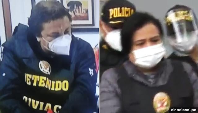 Richard Cisneros, Miram Morales y Karen Roca fueron detenidos por orden de la Fiscalía
