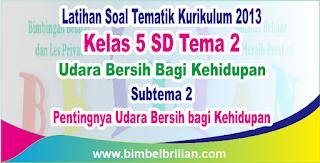 Soal Tematik Kelas 5 SD Tema 2 Subtema 2 Pentingnya Udara Bersih bagi Kehidupan dan Kunci Jawaban