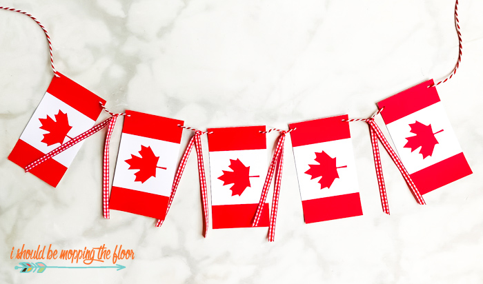 Canadian Flag Banner Printable