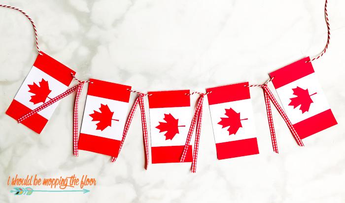Canadian Flag Banner Printable