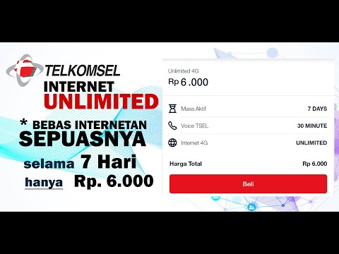 Dua Cara Aktivasi Paket Murah Unlimited Telkomsel Hanya Rp 6 Ribu Melalui SMS dan Aplikasi My Telkomsel