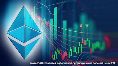 MakerDAO готовится к аварийной остановке из-за падения цены ETH