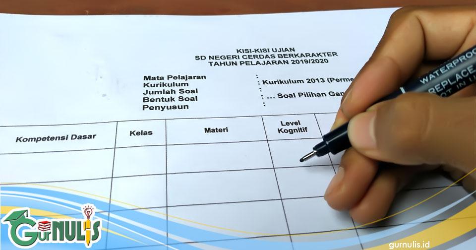 Cara Menyusun Kisi-kisi Soal Ulangan Tes Tertulis - www.gurnulis.id