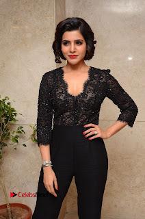 Actress Samantha Pictures in Black Dress at A Aa Success Meet  0078.JPG
