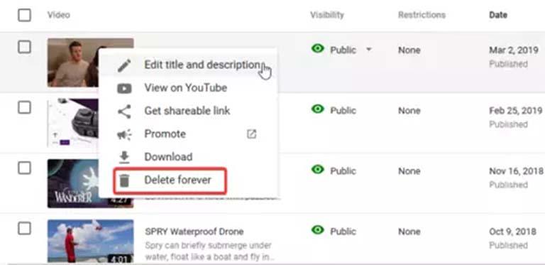Cara Mudah Menghapus Konten Video Dari Channel YouTube Kamu