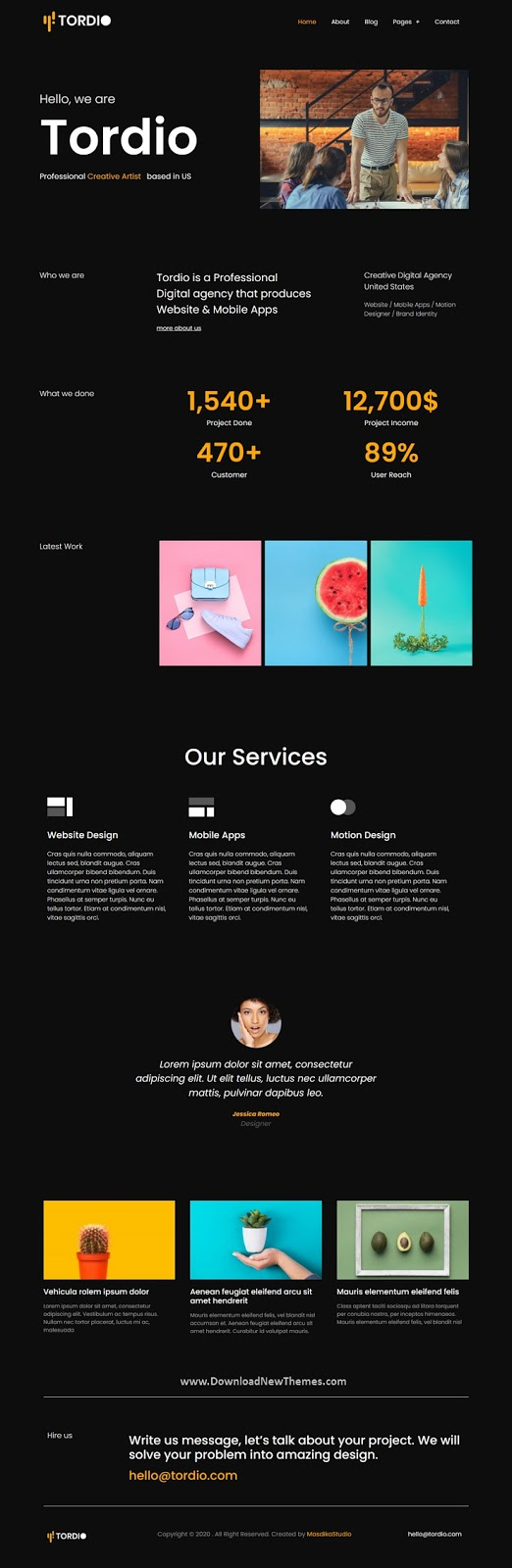 Portfolio Digital Agency Template Kit