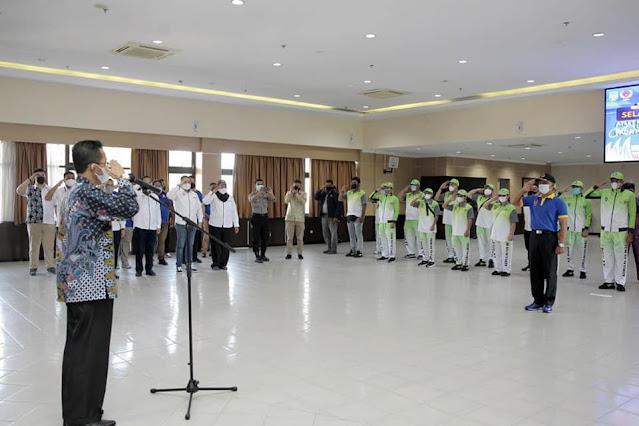 Wakil Walikota Batam Melepas Atlet dan Pelatih Kota Batam Yang Akan Mengikuti PON XX di Papua