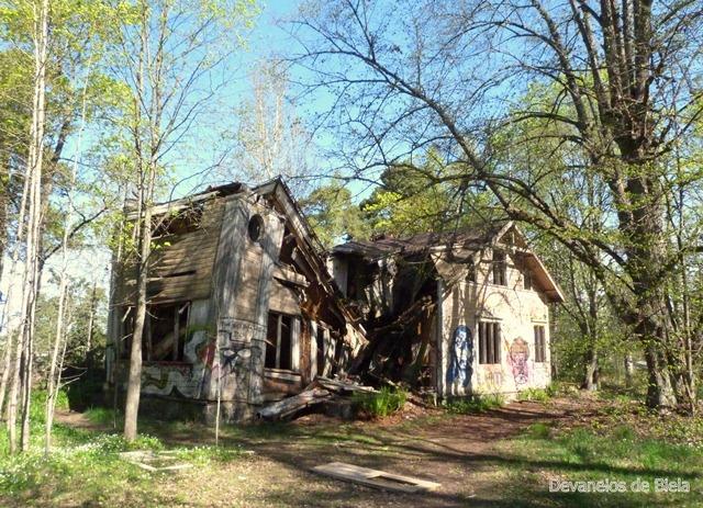 Helsinki - Kruunuvuori - vila abandonada - cidade fantasma