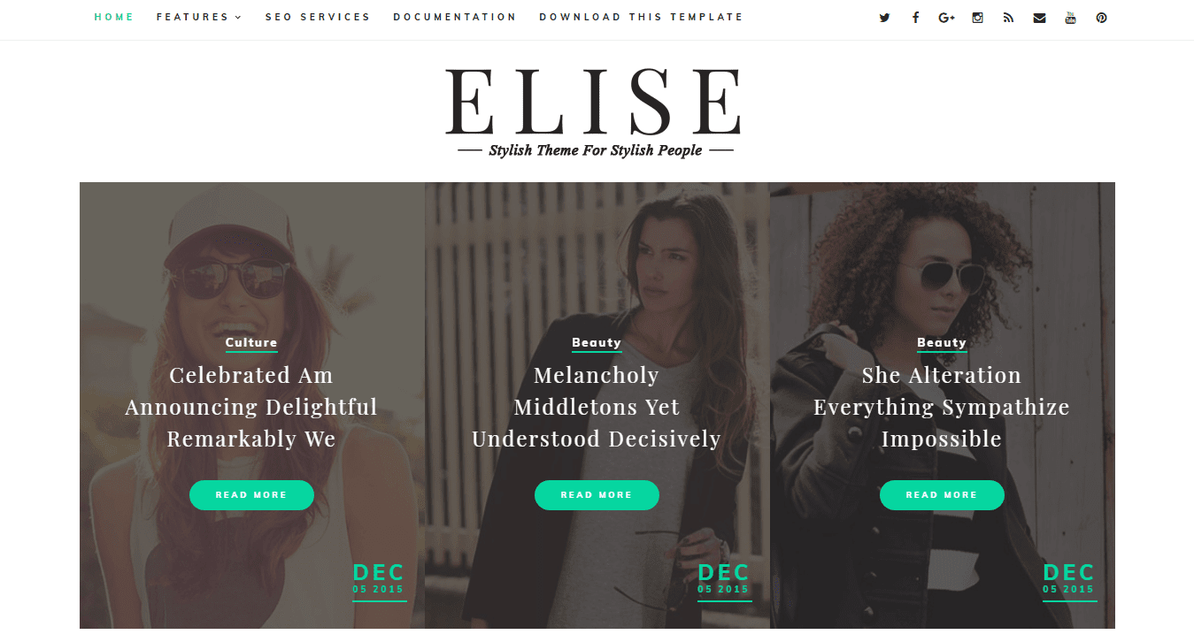 Elise Clean Blogger template