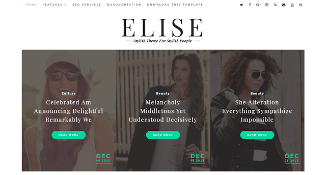 Theme Way2themes Download Elise Clean Blogger Blogspot Template Gratis Premium
