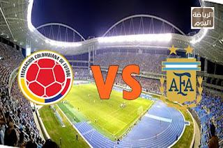 نتيجة المباراة منتخبي الأرجنتين و كولومبيا في كوبا أمريكا والقنوات الناقلة
