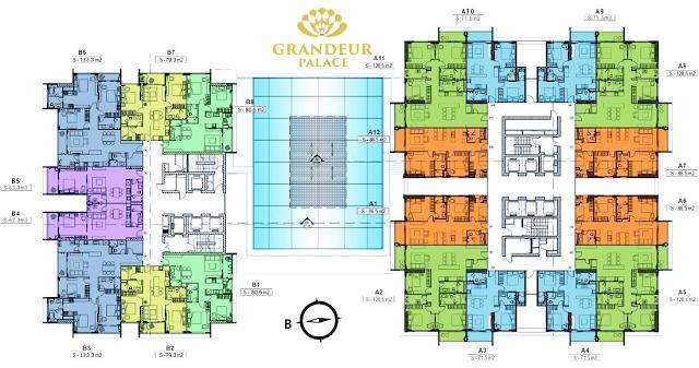 Thiết kế mặt bằng căn hộ dự án Grandeur Palace
