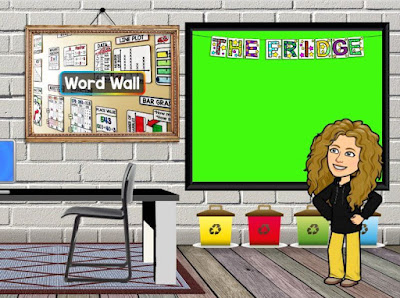 The Fridge is a fun way to display student work on a classroom bulletin board. The download includes a PNG image for your virtual classroom.