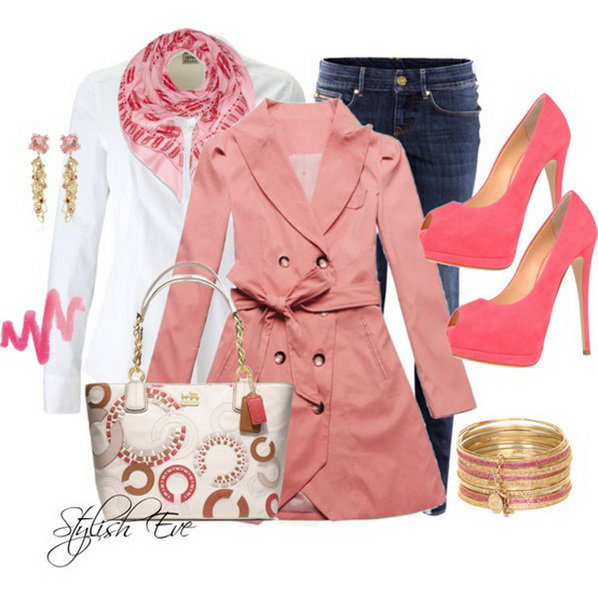 Stylish Fashions Pink Winter 2013 Outfits For Women By