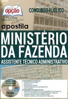 Apostila Concurso Ministério da Fazenda - Assistente Técnico-Administrativo