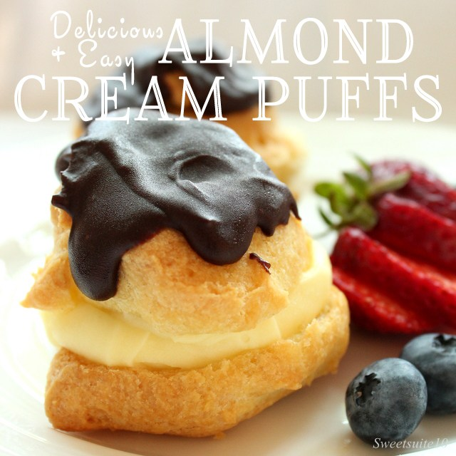 Easy and delicious Almond cream puffs recipe