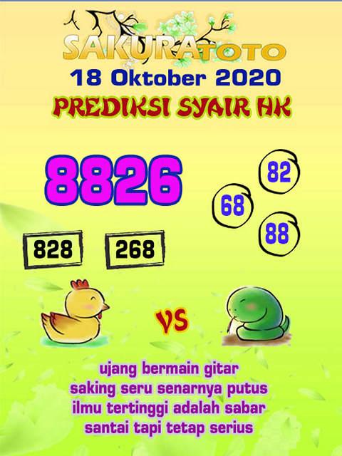 Kode syair Hongkong Minggu 18 Oktober 2020 271