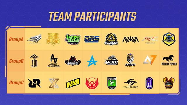 tim esports peserta pubg mobile pmgc