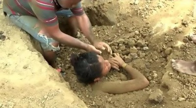 See Photos Of Girl Buried Alive For 3 Days; You'll Be Shocked Why