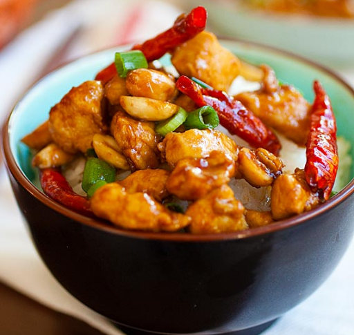 KUNG PAO CHICKEN #vegetarian #mushroom #chicken #food #lunch