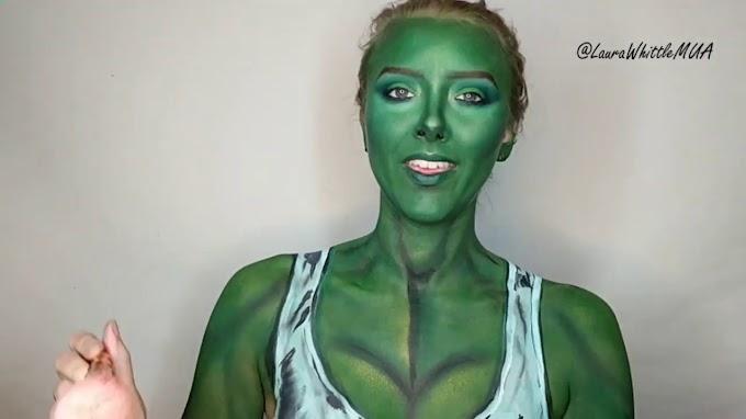 Como hacer bodypaint de She Hulk