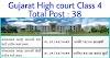 ગુજરાત હાઇકોર્ટમાં વર્ગ -૪ ભરતી   કુલ જગ્યા -38.   High court Class 4 Reqruitment 2021- Total Post 38