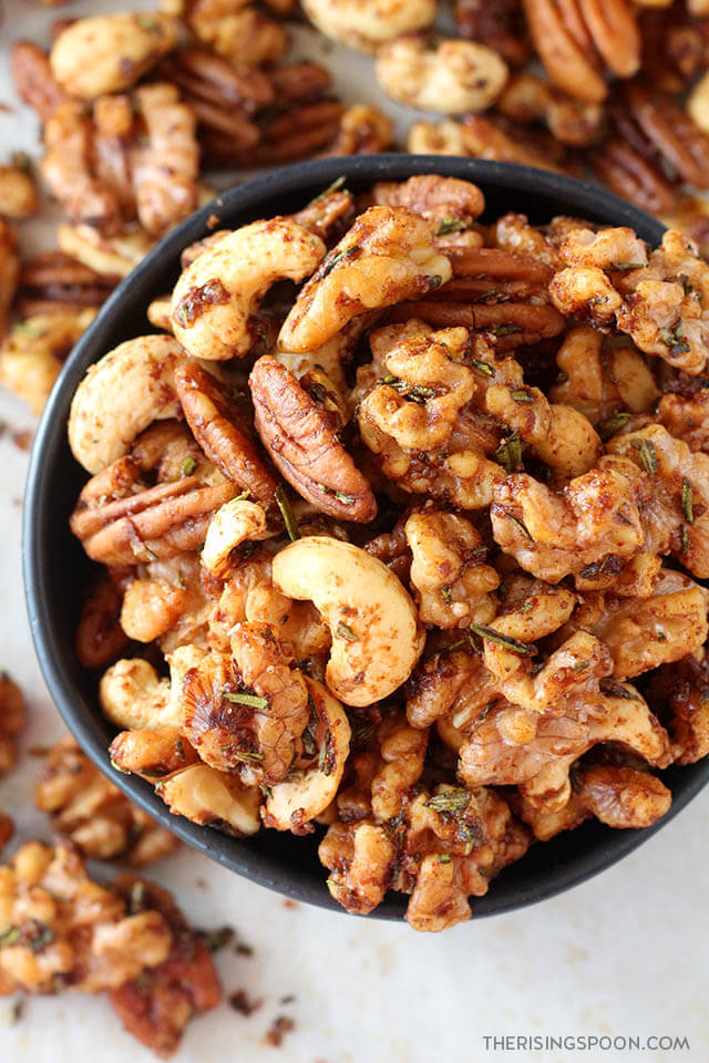 Addicting Rosemary Spiced Nuts (Easy & Healthy Snack Recipe)