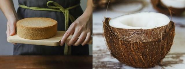 طريقة عمل كيك جوز الهند اللذيذة الطبيعية