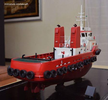 pembuat pengrajin miniatur kapal royal tug boats terpercaya batam