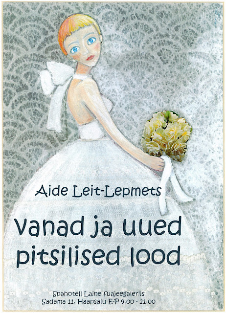 Aide leit-lepmets spahotell exhibition laced paintings art lace wedding dress
